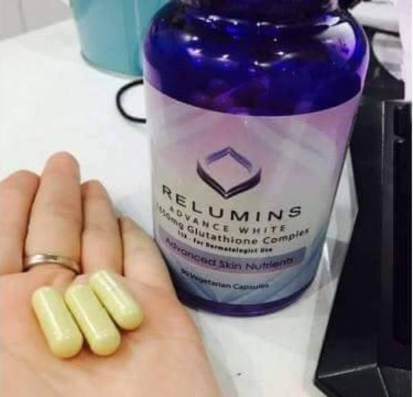 dùng viên uống trắng da Relumins có tốt không