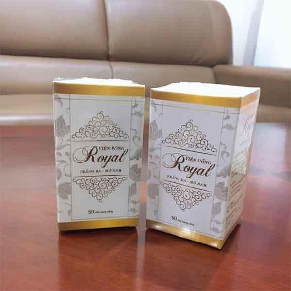 vỏ hộp viên uống royal