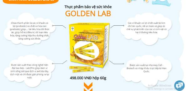 thông tin sản phẩm golden lab