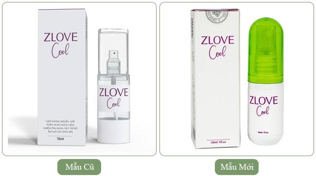 Lá trầu không được sử dụng trong sản phẩm Zlove Cool có 2 mẫu cũ và mẫu mới