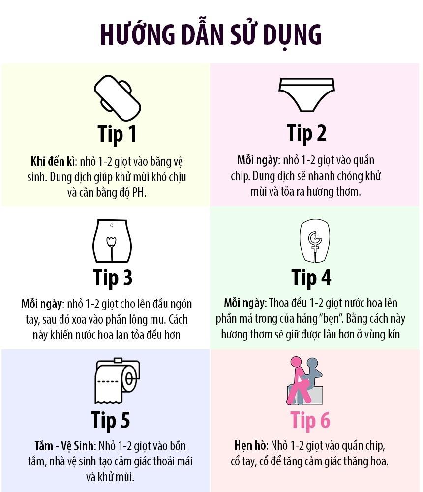 6 bước sử dụng nước hoa vùng kín đúng cách