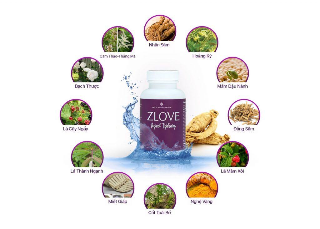 Quả mâm xôi cũng là thành phần tạo nên sản phẩm Zlove